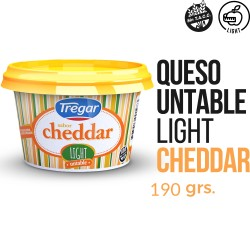 CHEDDAR LIGHT TREGAR 190G